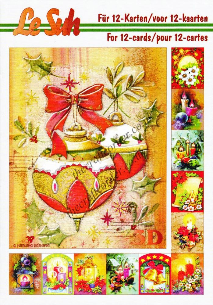 Christmas Decorations A5 3d Decoupage Book From Le Suh